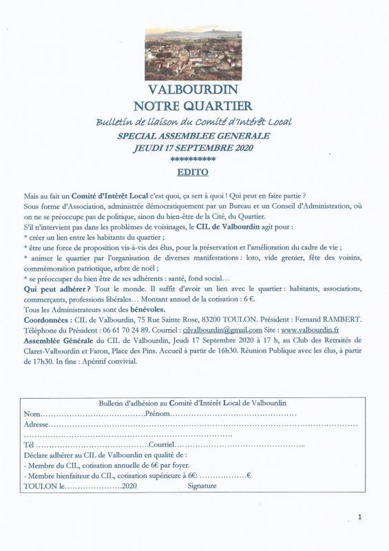 Bulletin avant ag 1