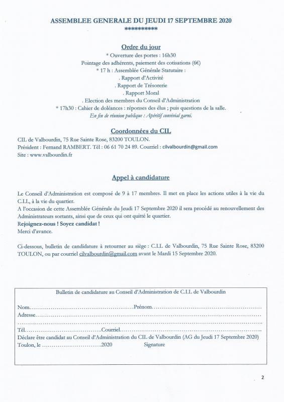 Bulletin avant ag 2