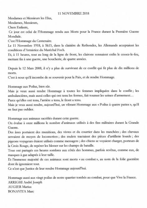 Discours 1